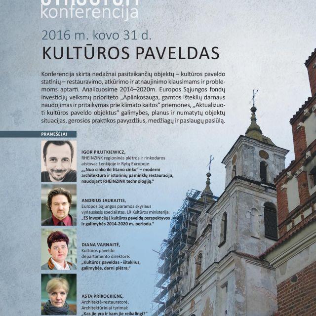 """STRUCTUM konferencija """"Kultūros paveldas"""""""