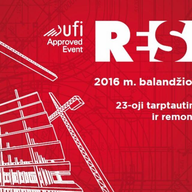 Kviečiame dalyvauti Statybų parodoje RESTA. Skaitmeninė statyba 2016 !